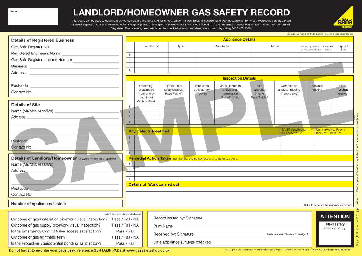 landlord gas safety certificates in doncaster